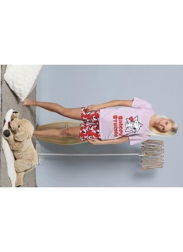 Strawberry Pijama Takım Lila